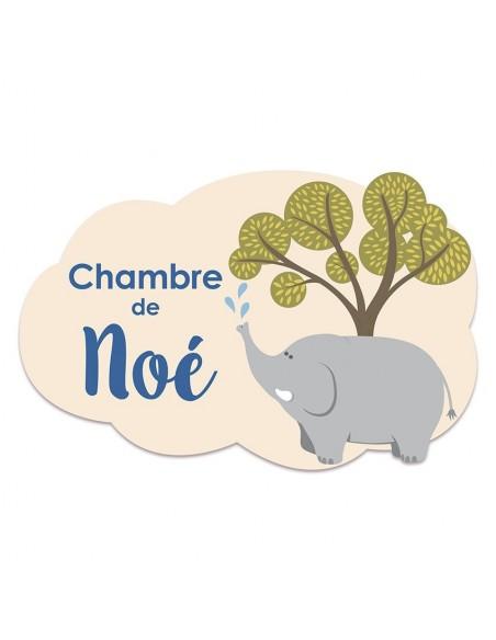 Plaques de porte,Plaque personnalisée: Éléphant