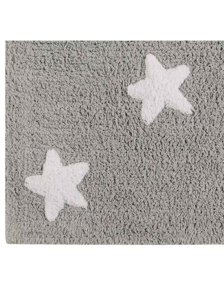 Tapis Lavables,Tapis Enfant: Étoiles Blanches