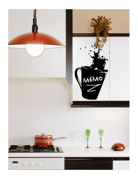 Sticker Ardoise,Sticker ardoise: Tasse à café