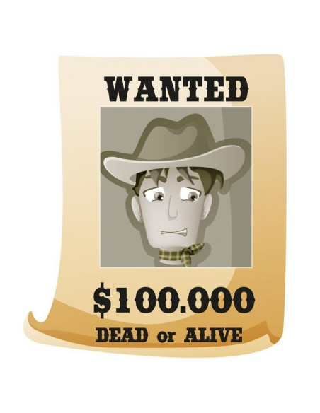 Stickers Indiens & Cowboys,Sticker Cowboys: Wanted