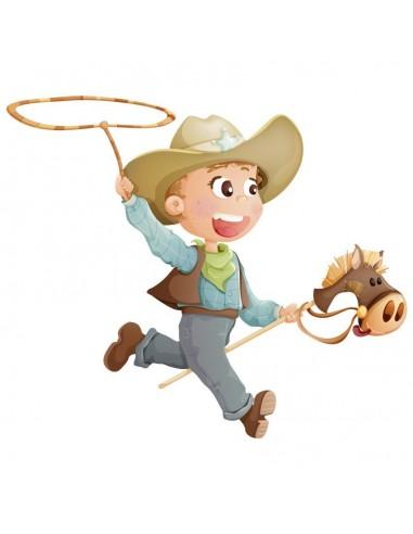 Stickers Indiens & Cowboys,Sticker Cowboys: Cowboy et son Lasso