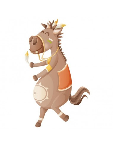Stickers Indiens & Cowboys,Sticker Indiens: Pony Pony