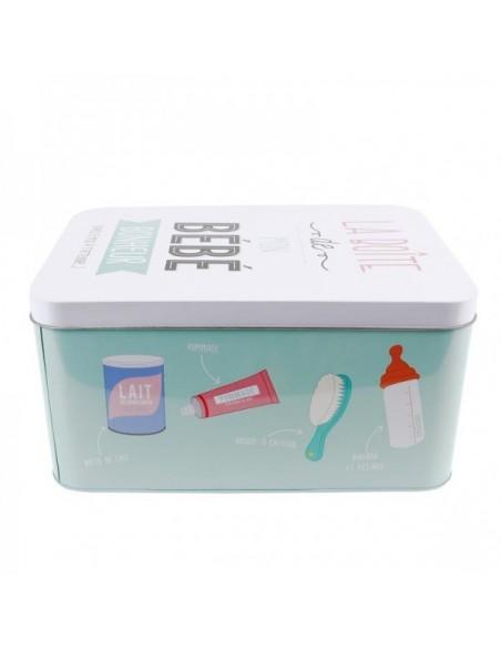 Boîtes & Paniers de rangement,Boîte de rangement métal pour bébé