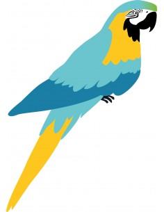 Stickers Jungle & Savane,Stickers Jungle: Perroquet Bleu