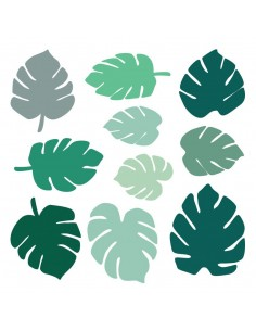 Stickers Frise,Sticker Jungle: Frise Feuilles Monstera