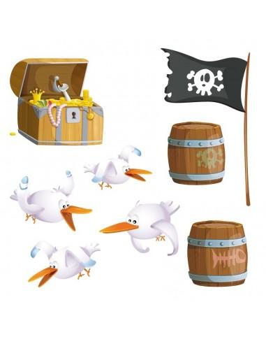 Stickers Pirates,Sticker Frise: Matériel de Pirate