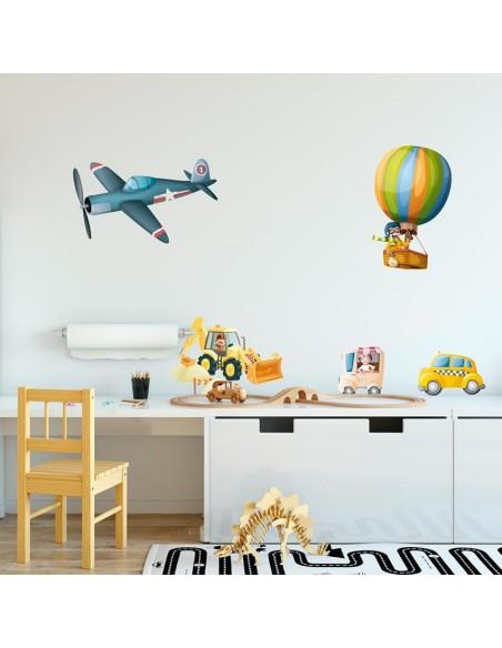 Stickers Voiture & Transports,Sticker enfant: Avion de Chasse