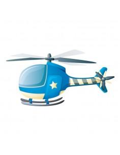 Stickers Voiture & Transports,Sticker enfant: Hélicoptère
