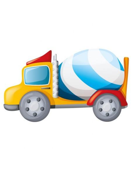 Stickers Voiture & Transports,Sticker Transport: Bétonneuse