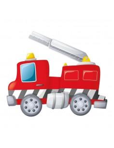 Stickers Pompier,Sticker Camion de Pompier & Échelle Rangée