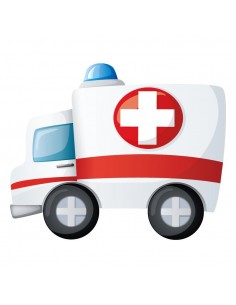 Stickers Voiture & Transports,Sticker Transports: Ambulance