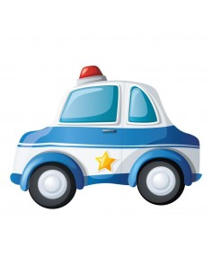 Stickers Police,Stickers Transports: Voiture de Police Gyrophare