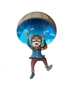 Stickers Voiture & Transports,Sticker enfant Parachutiste