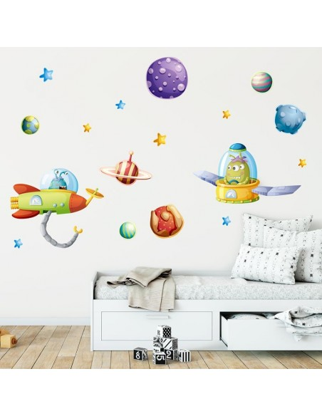 Stickers Espace,Sticker vaisseau extraterrestre