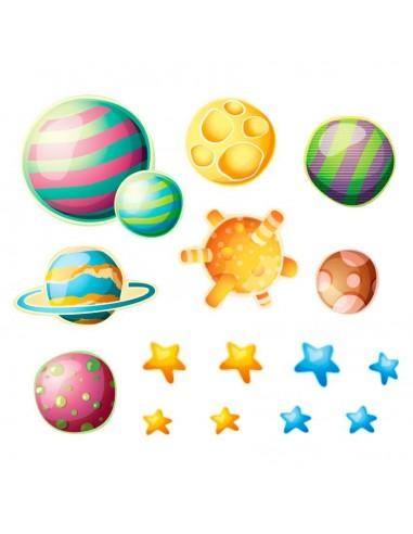 Stickers Espace,Sticker enfant étoiles et planètes