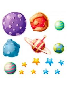 Stickers Espace,Stickers planètes du système solaire