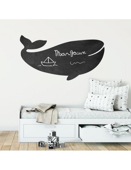 Sticker Ardoise,Stickers Ardoise: grande baleine