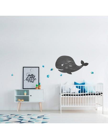 Sticker Ardoise,Sticker ardoise: baleine sourire