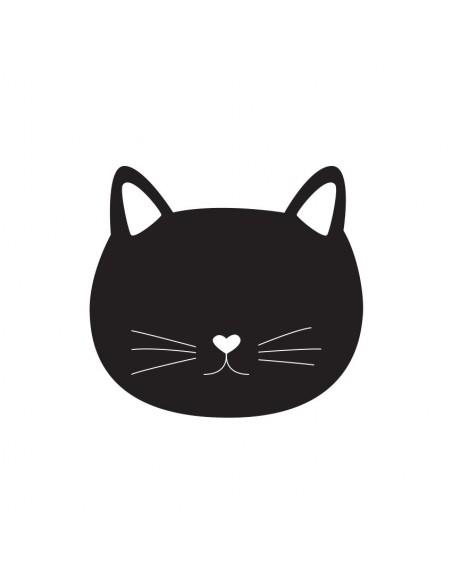 Sticker Ardoise,Sticker Ardoise: Chat