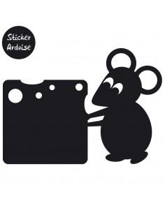 Sticker Ardoise,Sticker ardoise: Souris Fromage