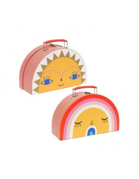 Boîtes & Paniers de rangement,Valise Arc-en-Ciel et Soleil
