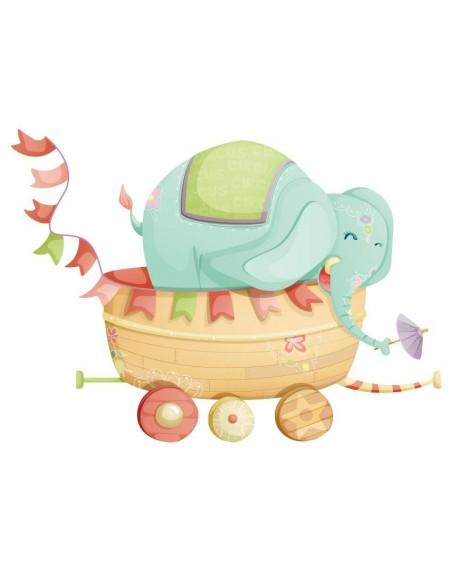 Stickers Cirque,Sticker Cirque: Éléphant