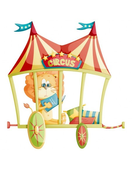 Stickers Cirque,Sticker Cirque: Lion Chapiteau