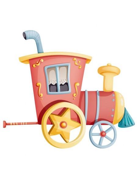 Stickers Cirque,Sticker Cirque: Locomotive