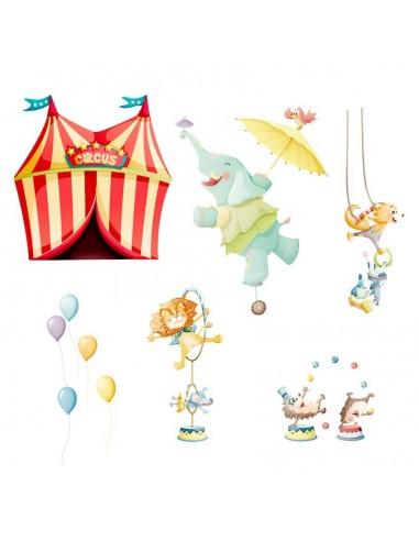 Stickers Voiture & Transports,Sticker Frise: Chapiteau du Cirque