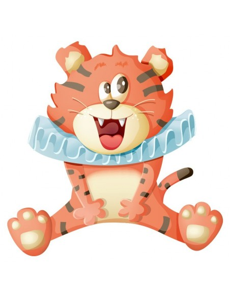 Stickers Cirque,Sticker Cirque: Tigre Sourire