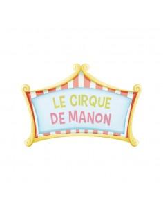 Stickers Prénom,Sticker Prénom: Cirque Rose
