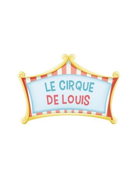 Stickers Cirque,Sticker à personnaliser: Cirque Rouge