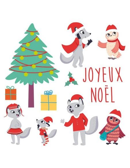 Stickers Noël,Frise de Noël: Forêt