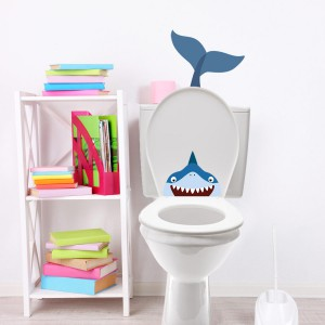 mes stickers wc requin