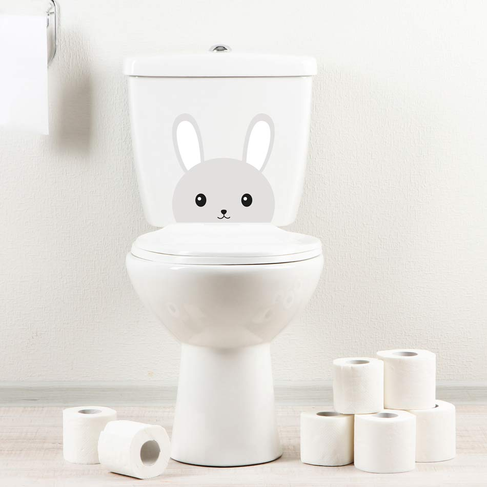 Sticker wc lapin
