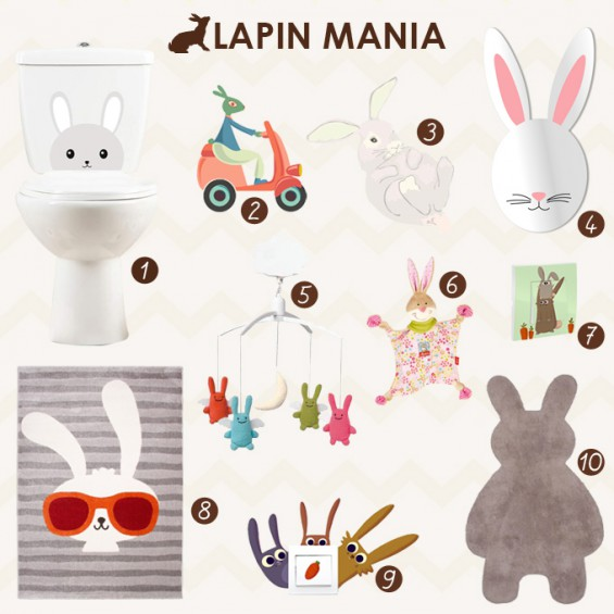Moodboard déco enfant lapin
